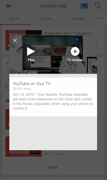 Chromecast TV Queue